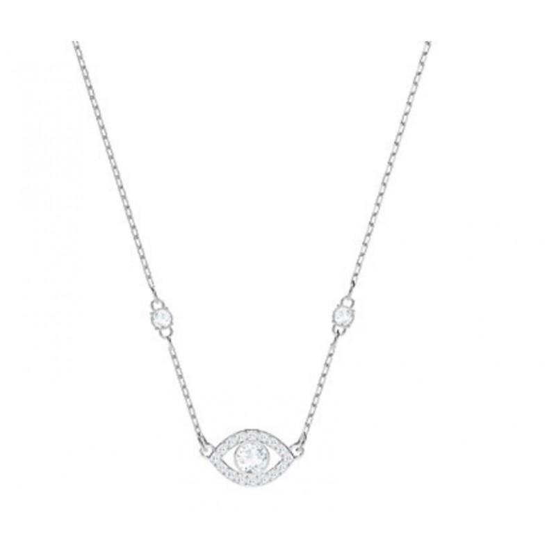 Swarovski luckily evil eye necklace joieria riera swarovski stone round pendant aloadofball Image collections
