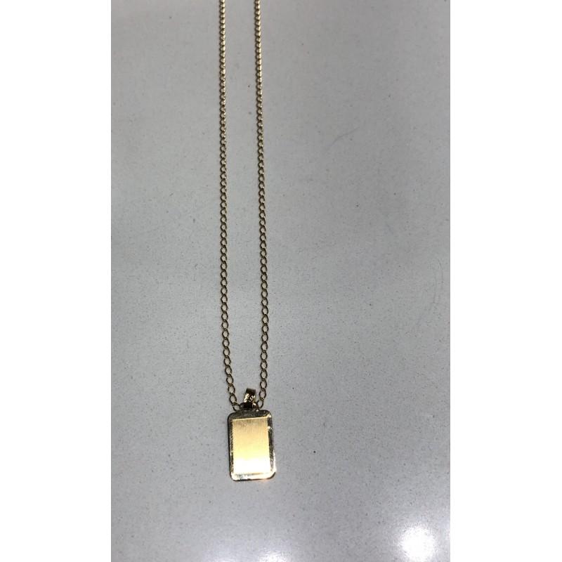 RIERA Cadena oro y placa oro (1/2 parte) - Riera Joiers - 018000017 + 03600045 - Jewelry and watches Riera in Vallès, Barcelona