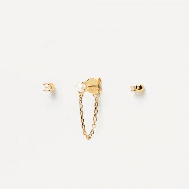 EARRINGS PD CHARLIE GOLD - PDPAOLA - BU01-019-U - Jewelry and watches Riera in Vallès, Barcelona
