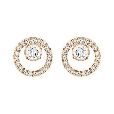 SWAROVSKI CREATIVITY PIERCED EARRINS CIRCLE SMALL